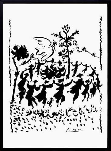 アートパネル アートポスター 絵画 インテリア ポスター タペストリー 壁掛け アートフレーム ウォールアート アートボード モダンアート モノトーン モノクロ アンティーク シンプル 北欧 おしゃれパブロ ピカソ 平和万歳