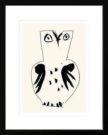 アートパネル アートポスター 絵画 インテリア ポスター タペストリー 壁掛け アートフレーム ウォールアート アートボード モダンアート モノトーン モノクロ アンティーク シンプル 北欧 おしゃれパブロ ピカソ フクロウ
