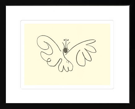 アートパネル アートポスター 絵画 インテリア ポスター タペストリー 壁掛け アートフレーム ウォールアート アートボード モダンアート モノトーン モノクロ アンティーク シンプル 北欧 おしゃれパブロ ピカソ The Butterfly(Silkscreen)