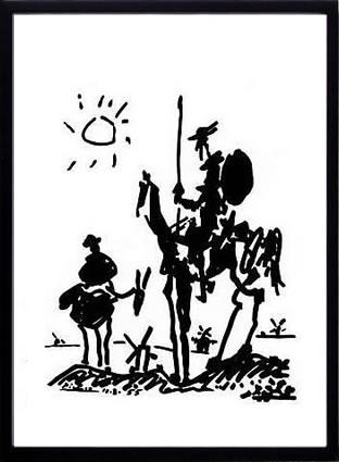 アートパネル アートポスター 絵画 インテリア ポスター タペストリー 壁掛け アートフレーム ウォールアート アートボード モダンアート モノトーン モノクロ アンティーク シンプル 北欧 おしゃれパブロ ピカソ ドン・キホーテ