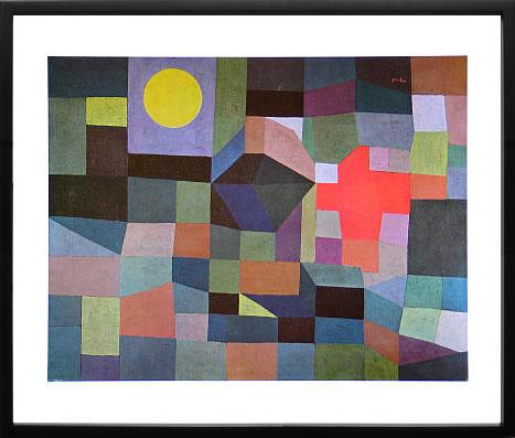 【絵画 アートパネル 壁掛け 専門店】アートフレーム/アートポスター モダンアート パウル・クレーFire at Full Moon, 1933(アートパネル アートフレーム アートポスター 北欧 絵画 インテリア ポスター 壁掛け)【0824カード分割】