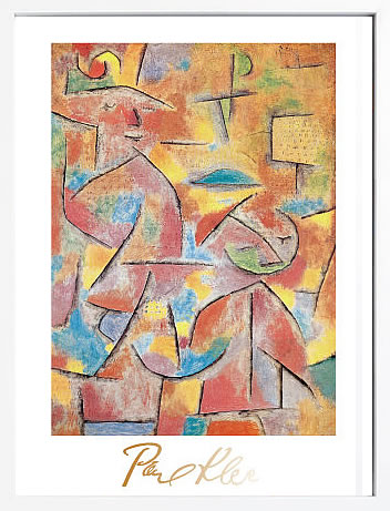 【絵画 アートパネル 壁掛け 専門店】アートフレーム/アートポスター モダンアート パウル・クレーBimba e Zia, c.1937(アートパネル アートフレーム アートポスター 北欧 絵画 インテリア ポスター 壁掛け)【0824カード分割】