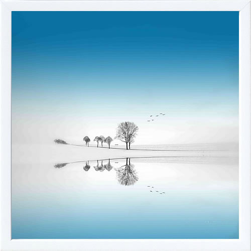 【絵画 アートパネル 壁掛け 専門店】アートフレーム/アートポスター Sainte Laudy PhilippeBlue Season(アートパネル アートフレーム アートポスター 北欧 絵画 インテリア ポスター 壁掛け)【0824カード分割】
