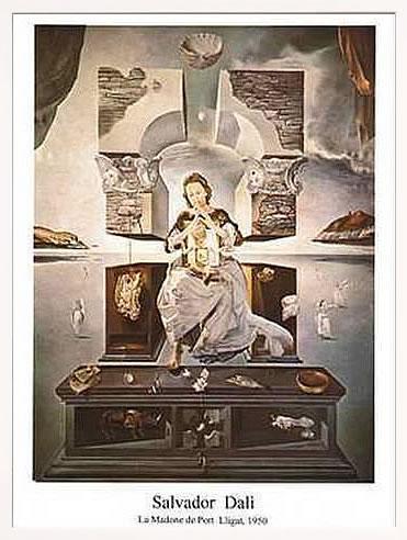 アートパネル アートポスター 絵画 インテリア ポスター タペストリー 壁掛け アートフレーム ウォールアート アートボード モダンアート モノトーン モノクロ アンティーク シンプル 北欧 おしゃれサルバドール ダリ Madonna of Port Lligat