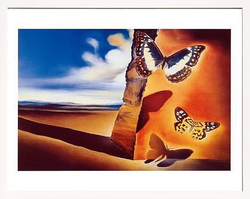 アートパネル アートポスター 絵画 インテリア ポスター タペストリー 壁掛け アートフレーム ウォールアート アートボード モダンアート モノトーン モノクロ アンティーク シンプル 北欧 おしゃれサルバドール ダリ Landscape with Butterflies