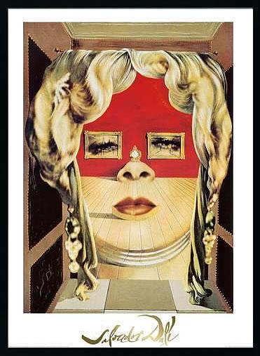アートパネル アートポスター 絵画 インテリア ポスター タペストリー 壁掛け アートフレーム ウォールアート アートボード モダンアート モノトーン モノクロ アンティーク シンプル 北欧 おしゃれサルバドール ダリ メイ ウェストの顔