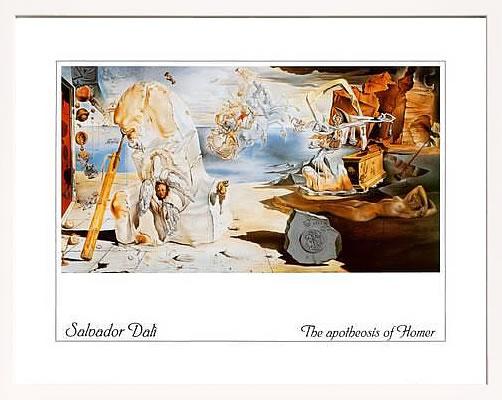 アートパネル アートポスター 絵画 インテリア ポスター タペストリー 壁掛け アートフレーム ウォールアート アートボード モダンアート モノトーン モノクロ アンティーク シンプル 北欧 おしゃれサルバドール ダリ The Apotheosis of Homer