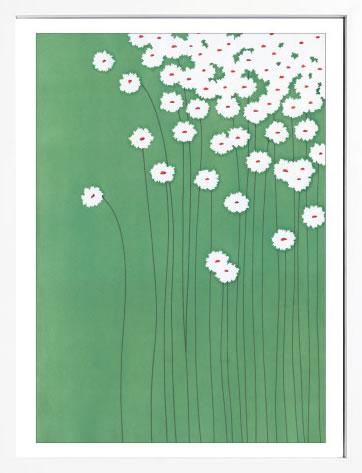 【絵画 アートパネル 壁掛け 専門店】アートフレーム/アートポスター サカイ タカシ Wild Daisies(アートパネル アートフレーム アートポスター 北欧 絵画 インテリア ポスター 壁掛け)
