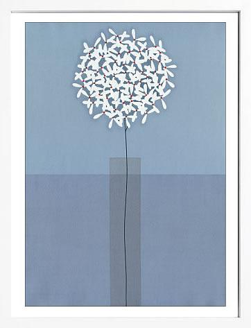 【絵画 アートパネル 壁掛け 専門店】アートフレーム/アートポスター サカイ タカシSingle Stem Vase(アートパネル アートフレーム アートポスター 北欧 絵画 インテリア ポスター 壁掛け)