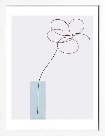 アートパネル アートポスター 絵画 インテリア ポスター タペストリー 壁掛け アートフレーム ウォールアート アートボード インテリアアート モノトーン モノクロ アンティーク シンプル 北欧 おしゃれサカイ タカシ One Daisy Flower in vase