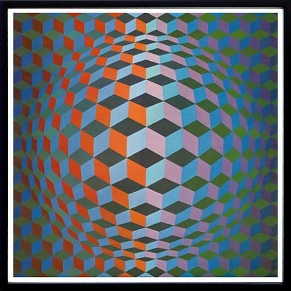 アートパネル アートポスター 絵画 インテリア ポスター タペストリー 壁掛け アートフレーム ウォールアート アートボード モダンアート モノトーン モノクロ アンティーク シンプル 北欧 おしゃれヴィクトル ヴァザルリ Squares