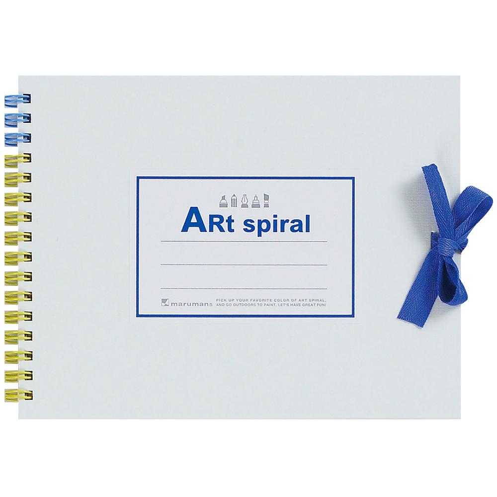 カラフルな表紙と多彩な使い方で大人気! マルマン スケッチブック アートスパイラル F0 (142×185mm) 画用紙厚口24枚 S310-06 ホワイト