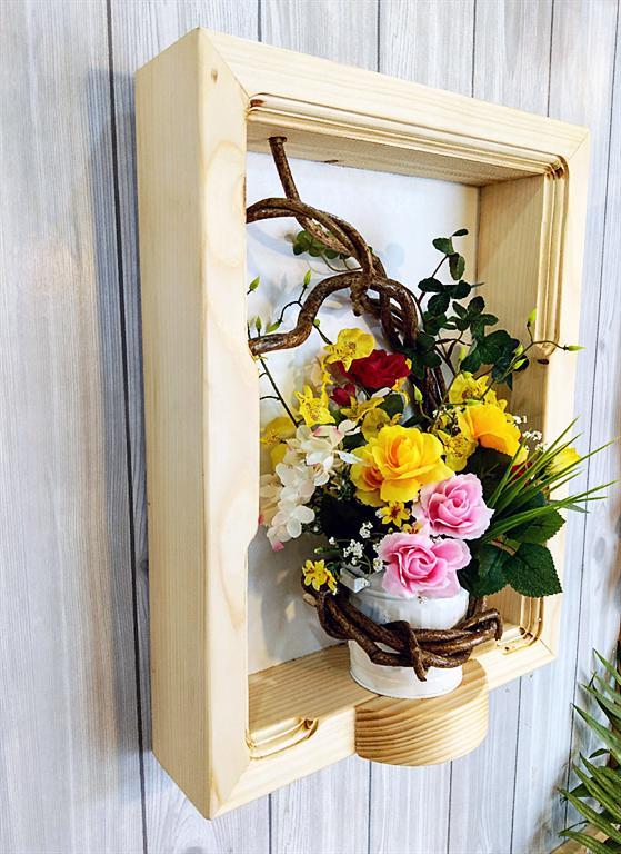 アートな額花瓶(木製) オーダーメイド オーダーメイド花瓶 木製花瓶 アート花瓶 花瓶アート ツル花瓶 インテリア花瓶 壁掛け花瓶