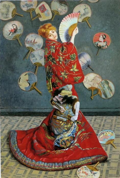油絵 クロード・モネの名作 「ラ・ジャポネーズ」