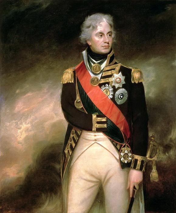 油絵 William Beecheyの名作_ネルソン提督の肖像