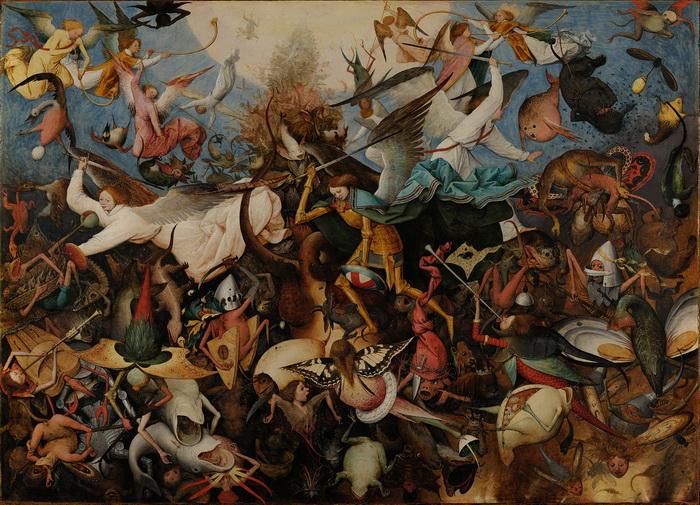 油絵 ピーテル・ブリューゲルの名作_叛逆天使の墜落