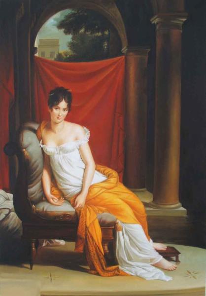 激安通販販売 名画 絵画 油絵 レカミエ夫人 5%OFF フランソワ ジェラールの名作
