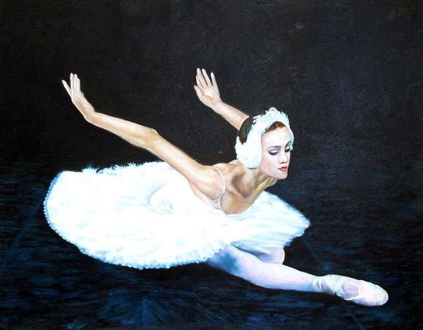 油絵 バレエ「白鳥の湖」 1