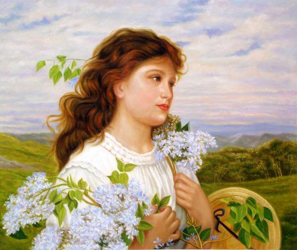 油絵 ソフィエ・アンダーソンの名作「ライラックの季節」