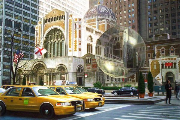 油絵 ニューヨーク5番街