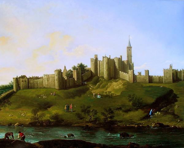 特価油絵 カナレットの名作「Alnwick castle」
