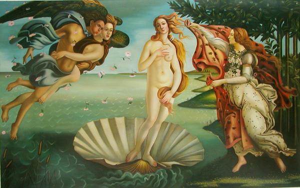 油絵 ボッティチェリの名作「ヴィーナスの誕生」