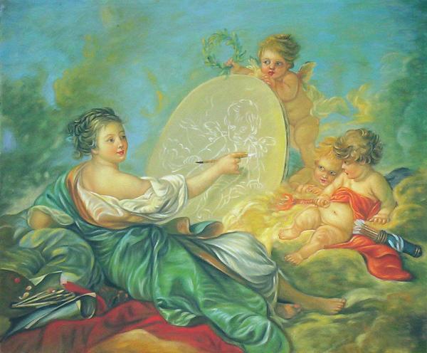 全品送料無料 名画 絵画 油絵 天使の画家 ブーシェの名作 セール商品