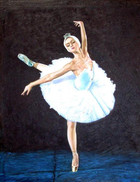 油絵 バレエ「白鳥の湖」 2