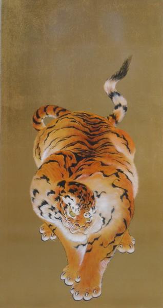 特価漆絵 亀岡規礼の名作「猛虎図」