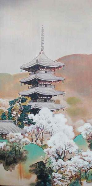 漆絵 川村曼舟の名作「古都の春」