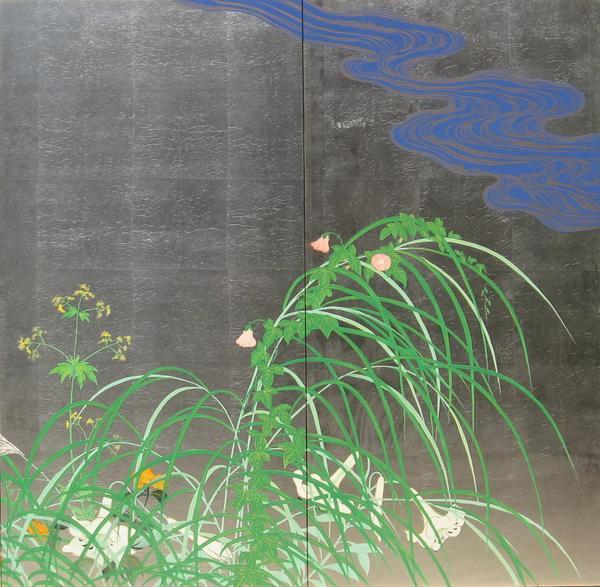풍속도 판화 사카이호우리츠의 명작 「나츠아키초도」