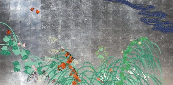 漆絵 酒井抱一の名作「夏秋草図」