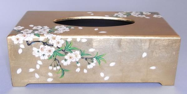 特製・漆絵ティッシュボックス 桜