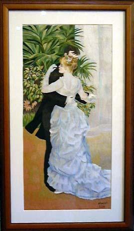 特価刺繍画 ルノワールの名作「都会のダンス」