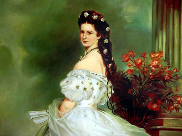 特価油絵 ヴィンターハルターの名作_皇妃エリーザベトの肖像 最短で翌日配送! 就職祝お花見 結婚式引出物 迎春 お歳暮 ホワイトデー