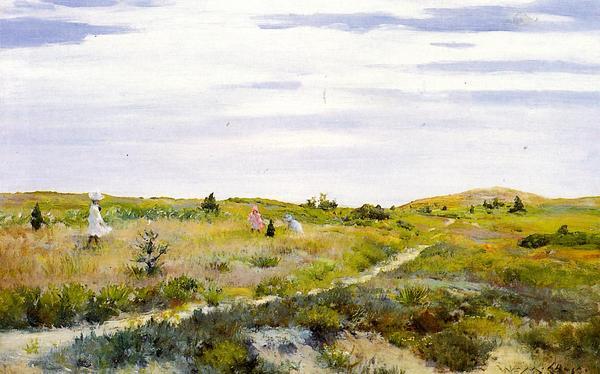 爆売り 名画 宅配便送料無料 絵画 油絵 William Chaseの名作_シネコックの小道 Merritt