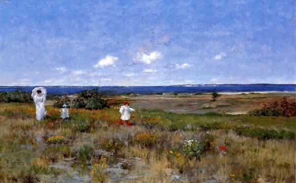 名画 激安価格と即納で通信販売 絵画 油絵 本物 William Merritt Chaseの名作_シネコック海岸