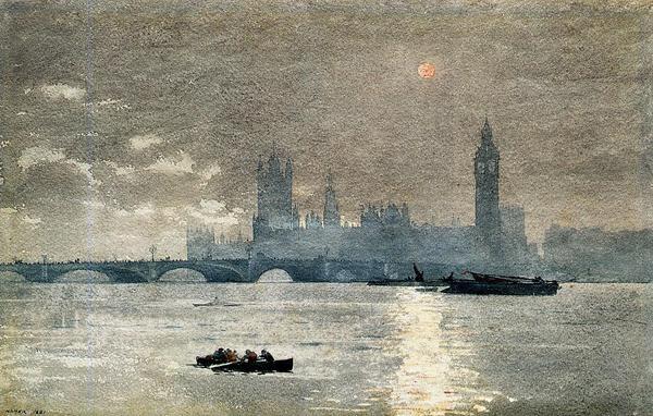 名画 セール価格 絵画 油絵 Winslow_英国国会議事堂 限定タイムセール Homer