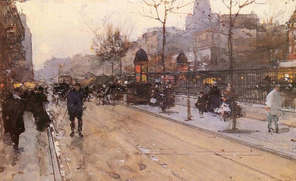 名画 絵画 油絵 Luigi_パリの街角 新作からSALEアイテム等お得な商品満載 信憑 Loir