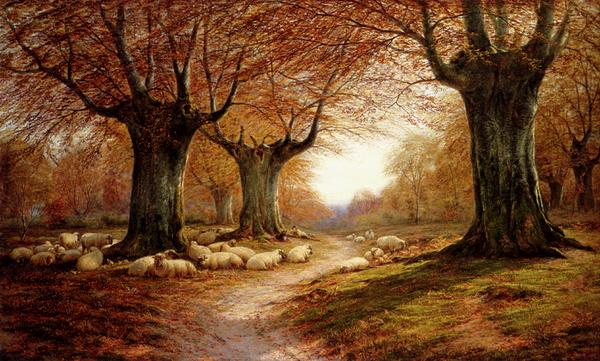 名画 絵画 油絵 Luker 推奨 William_ 賜物 秋の風景