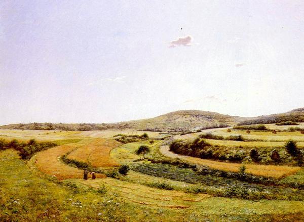 [再販ご予約限定送料無料] 名画 絵画 油絵 Monchablon セットアップ Jean 収穫の季節 Ferdinand_