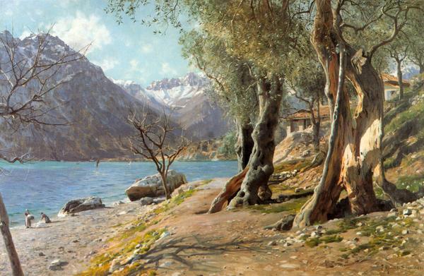 定番 名画 絵画 油絵 Monstead 期間限定で特別価格 Peder Mork_ トルボレ