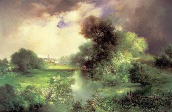 名画 絵画 油絵 Moran お求めやすく価格改定 6月のイーストハンプトン Thomas_ 好評受付中