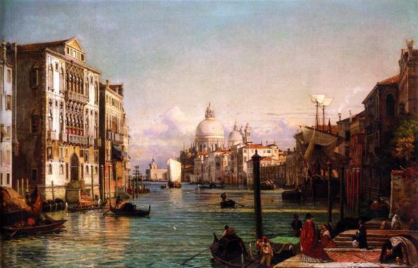 油絵 Nerly Friedrich_ ベニスの運河