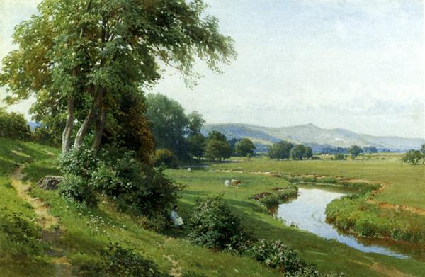 いよいよ人気ブランド 名画 絵画 油絵 Palmer 高級品 Harry 川の風景 Sutton_