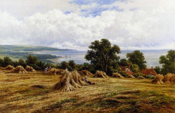油絵 Parker Henry H_ 収穫の季節