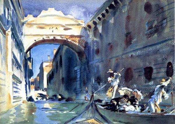 油絵 サージェントの名作_ベニスの橋