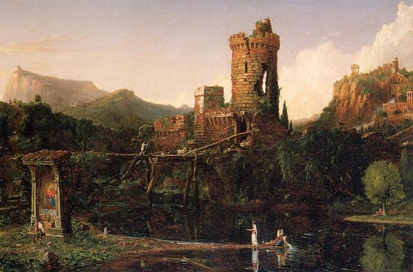 名画 絵画 油絵 Thomas マーケティング 予約販売品 Cole_ 古代イタリアの風景