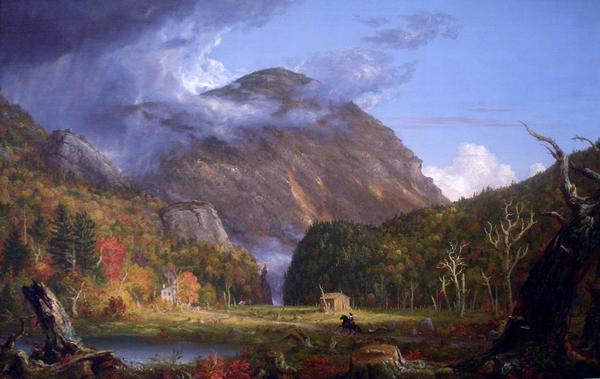 名画 絵画 油絵 激安通販販売 Thomas [ギフト/プレゼント/ご褒美] 険しい山を通る道 Cole_