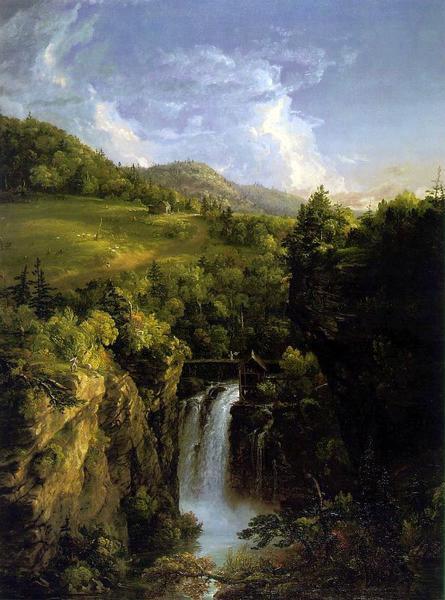 名画 絵画 宅送 油絵 ジェネシーの風景 Thomas NEW ARRIVAL Cole_